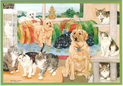 """Menagerie"" Dogs and Cats Sympathy Card"