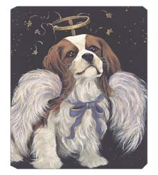 "Cavalier King Charles Spaniel Terrier Mouse Pad ""Cavalier Angel"""