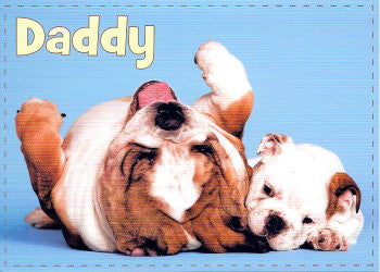 Bulldog birthday card for Dad