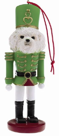 Bichon Toy Soldier Christmas Ornament