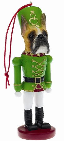 Boxer Toy Soldier Christmas Ornament