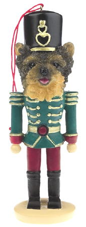 Yorkie Puppy Toy Soldier Christmas Ornament