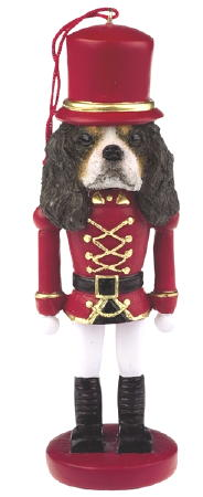 Cavalier King Charles Spaniel Toy Soldier Christmas Ornament tricolor