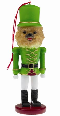 Pomeranian Toy Soldier Christmas Ornament