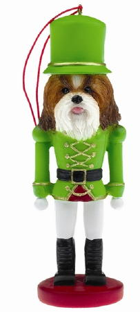 Shih Tzu Toy Soldier Christmas Ornament