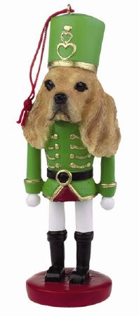 Blonde Cocker Spaniel Toy Soldier Christmas Ornament