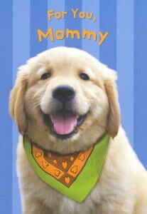 Golden Retriever Mother's Day Card