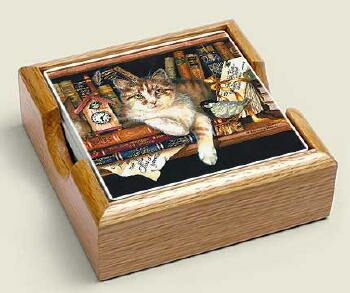 Literary Cat Coasters