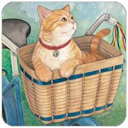 Basket Ride Cat Coasters