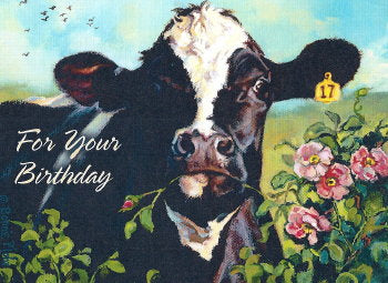Cow Birthday Card