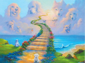 dog sympathy card all dogs go to heaven
