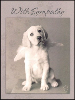 Dog Sympathy Card puppy angel