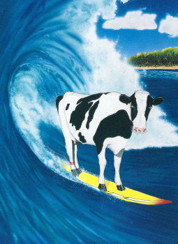 "Cow Birthday Card ""Cowabunga"""