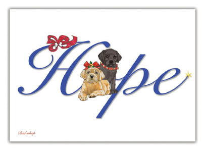 Labrador Retriever HOPE Christmas Cards