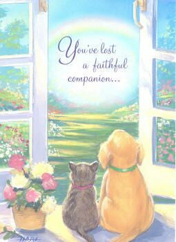 loss of pet condolence card