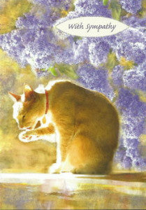 cat sympathy card the inky paw