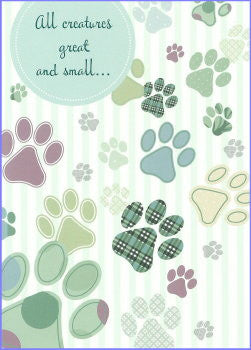 All creatures pet sympathy card