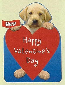 Lab Puppy Valentine's Card