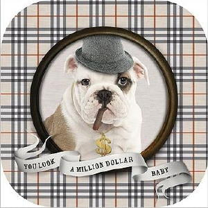 "Bulldog Note Card ""Million Dollar Baby"""
