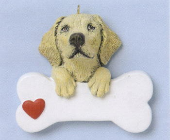 Yellow Labrador Retriever Christmas Ornament