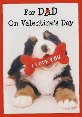 Bernese Mountain Dog Valentine's Card for Dad