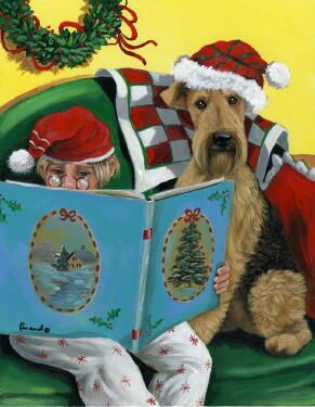Airedale Terrier Christmas Cards