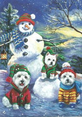 "Westie Christmas Cards ""Holiday Snowballs"""