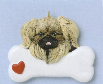 Pekingese Christmas Ornament