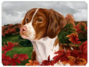 "Brittany Mouse Pad ""Autumn Leaves"""