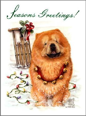 Chow Chow Christmas Cards