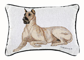 Great Dane Tapestry Pillow