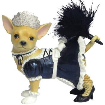 "Chihuahua Figurine ""French Maid"""