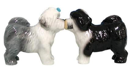 Old English Sheepdog Salt and Pepper Shakers