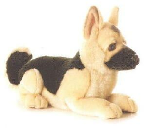"German Shepherd Plush Toy ""Duke"""