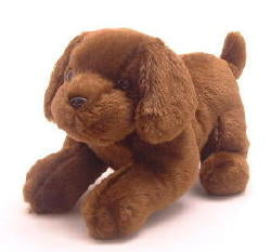 Chocolate Lab Plush Toy ~ Pouncing Pups