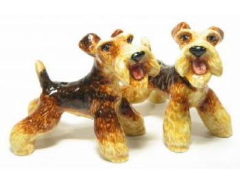 Airedale Terrier Salt & Pepper Shakers