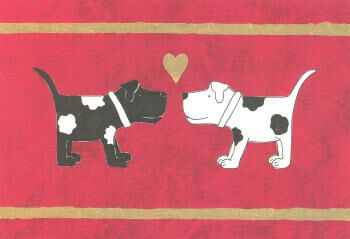 Black & White Dogs Valentine's Card
