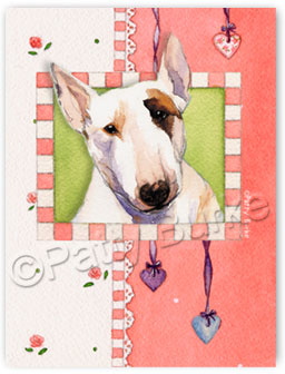 "Bull Terrier ID Tag ""Heartstrings"""
