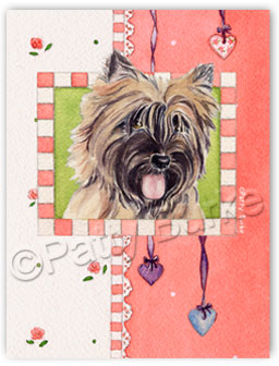 "Cairn Terrier ID Tag ""Heartstrings"""