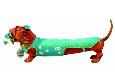 Grateful Dachshund Figurine