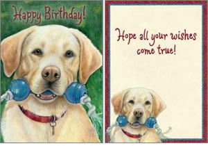 Labrador Retriever Birthday Card