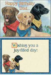 Labrador Retriever Birthday Card for Dad