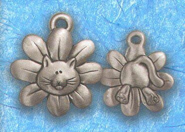 daisy kitty cat collar charm