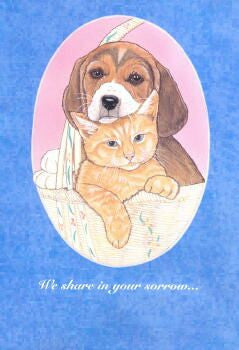 Pet Sympathy Cards ~ 10 pack