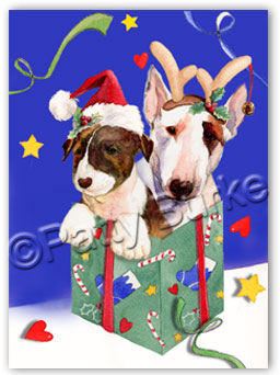 Bull Terrier Christmas Cards