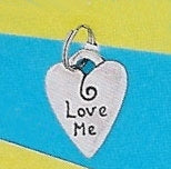 "Pewter Dog Collar Charm ""Love Me"""