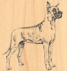 Great Dane Rubber Stamp