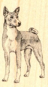 Basenji Rubber Stamp
