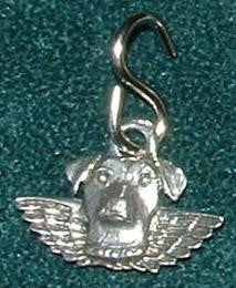Jack Russell Terrier Guardian Angel Collar Charm