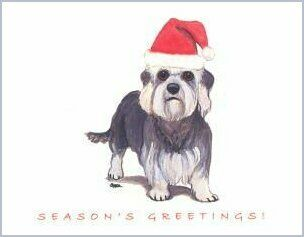 Dandie Dinmont Terrier Christmas Cards
